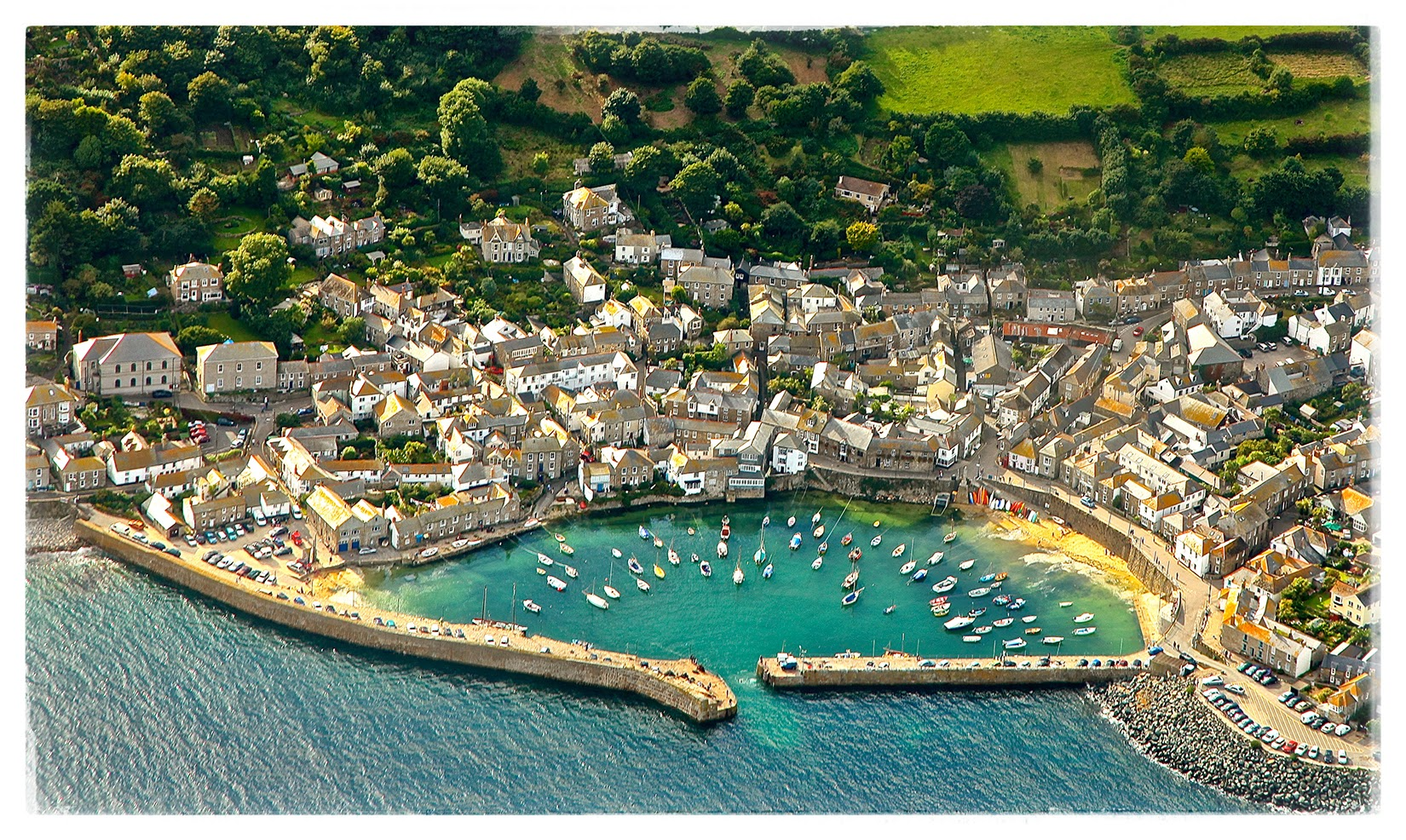 the Cuttlefish Mousehole, Aerial View over the Harbour